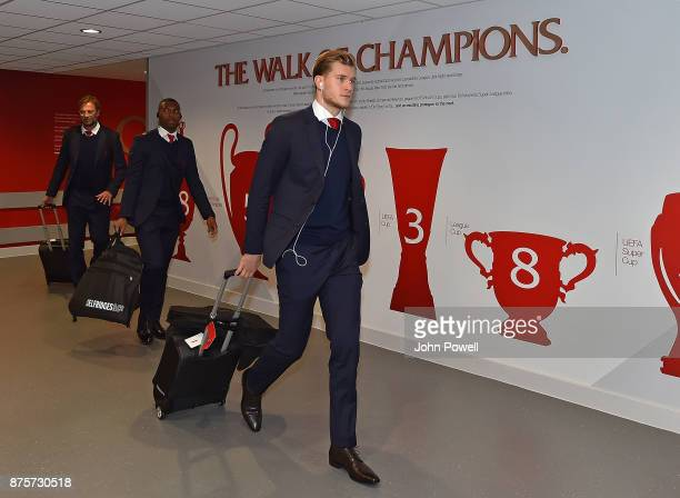 Loris karius Daniel Sturridge of Liverpool arriving for the Premier League match between Liverpool and Southampton at Anfield on November 18 2017 in...