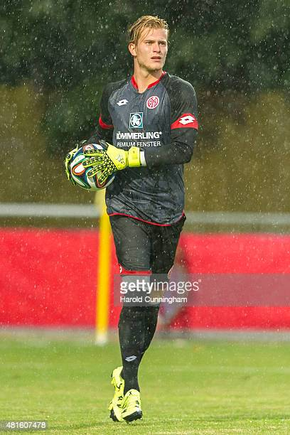 Loris Karius of 1 FSV Mainz 05 in action during the preseason friendly match between 1 FSV Mainz 05 and AS Monaco at Stade des Arberes on July 22...