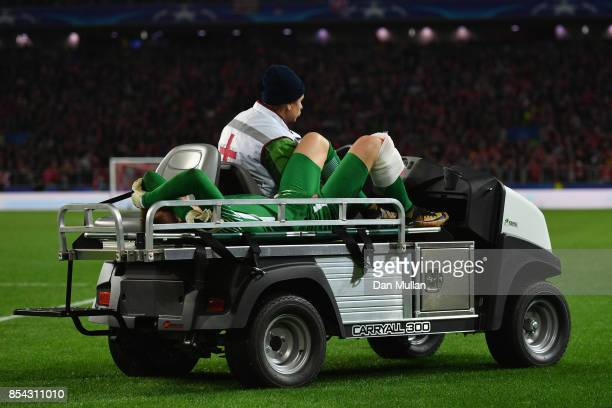 Loris Karius of Liverpool comes off injured during the UEFA Champions League group E match between Spartak Moskva and Liverpool FC at Otkrytije Arena...
