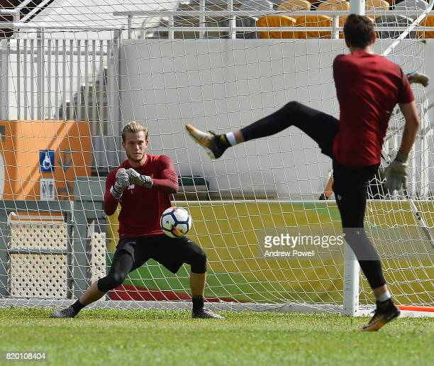 Loris Karius of Liverpool during a training session on July 21 2017 in Hong Kong Hong Kong