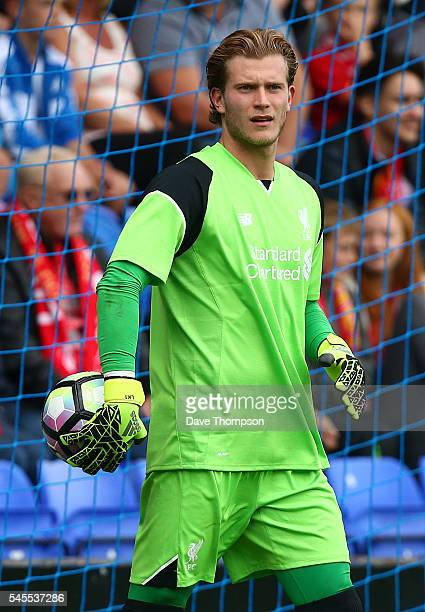 Loris Karius of Liverpool during the PreSeason Friendly match between Tranmere Rovers and Liverpool at Prenton Park on July 8 2016 in Birkenhead...