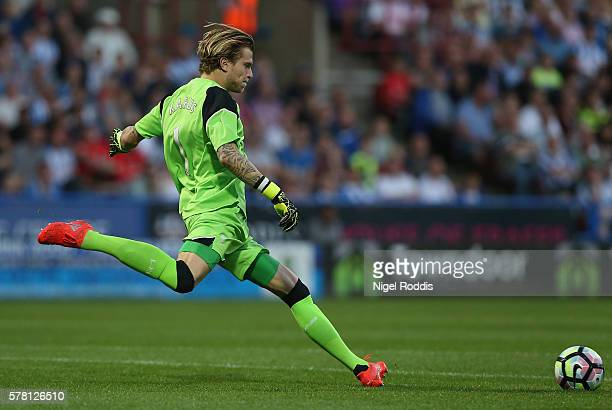 Loris Karius of Liverpool during the PreSeason Friendly match between Huddersfield Town and Liverpool at the Galpharm Stadium on July 20 2016 in...