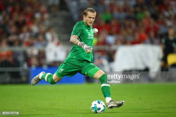 Loris Karius of Liverpool during the second Audi Cup football match between FC Bayern Munich and FC Liverpool in the stadium in Munich southern...