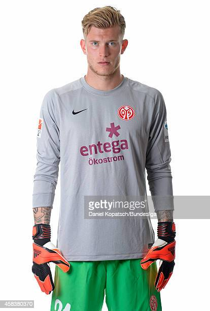 Loris Karius poses during the DFL Media Day of 1 FSV Mainz 05 at Coface Arena on July 18 2014 in Mainz Germany