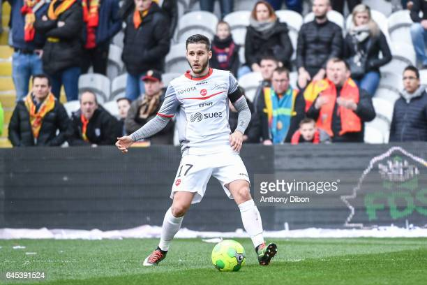 Loris Nery of Valenciennes during the French Ligue 2 match between Lens and Valenciennes at Stade BollaertDelelis on February 25 2017 in Lens France