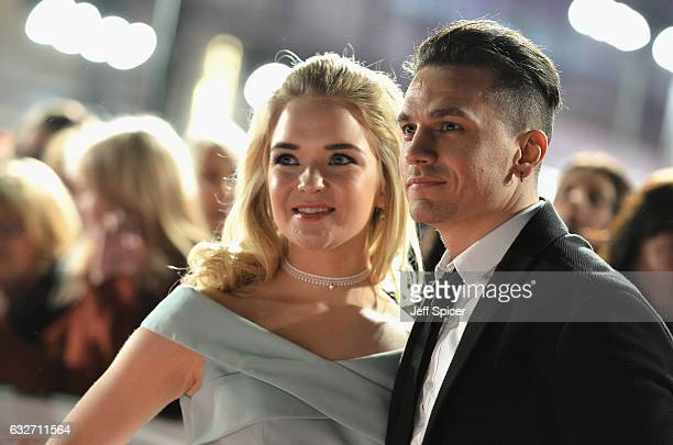Lorna Fitzgerald and guest attend the National Television Awards on January 25 2017 in London United Kingdom