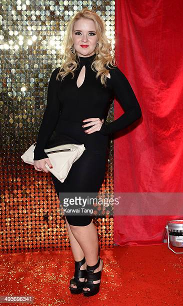 Lorna Fitzgerald attends the British Soap Awards held at the Hackney Empire on May 24 2014 in London England