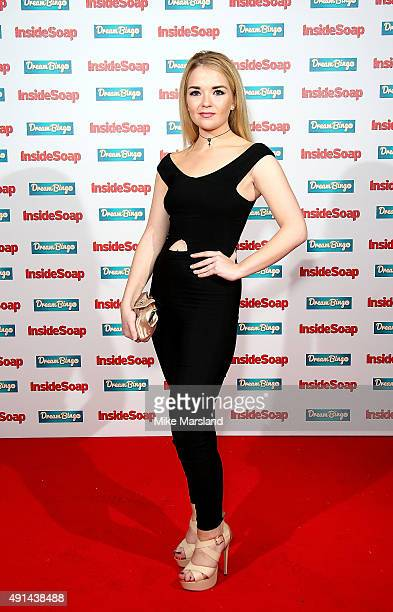 Lorna Fitzgerald attends the Inside Soap Awards at DSKTRT on October 5 2015 in London England
