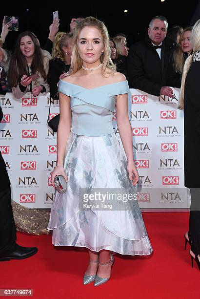 Lorna Fitzgerald attends the National Television Awards at The O2 Arena on January 25 2017 in London England