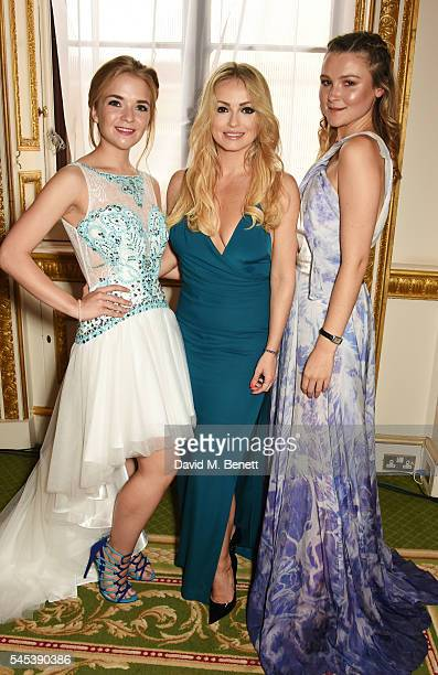 Lorna Fitzgerald Ola Jordan and Amber Atherton attend The Dream Ball in aid of The Prince's Trust and Big Change at Lancaster House on July 7 2016 in...