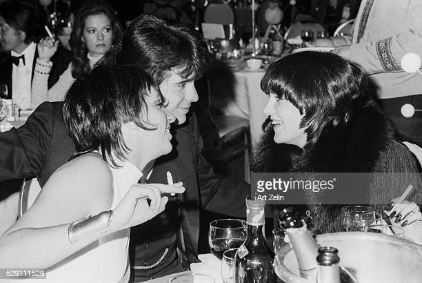 Lorna Luft Desi Arnaz Jr and Liza Minnelli at a formal black tie dinner circa 1970 New York