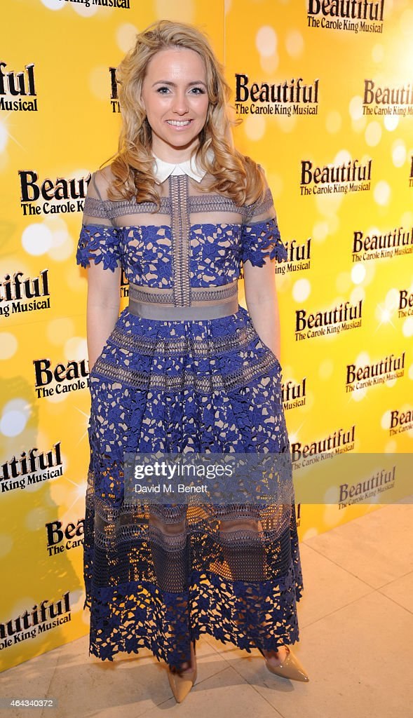 Lorna Want attends an after party following the press night performance of 'Beautiful: The Carole King Musical', playing at the Aldwych Theatre, at the Somerset House on February 24, 2015 in London, England.
