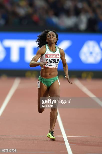 Lorène Dorcas BAZOLO Portugal during 200 meter heats in London at the 2017 IAAF World Championships athletics on August 8 2017