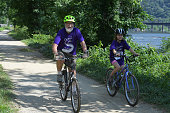 Lorne Garrettson and his granddaughter Greta GarrettsonTaylor ride along the CO Canal near Harpers Ferry July 19 2016 in Sandy Hook MD Lorne...