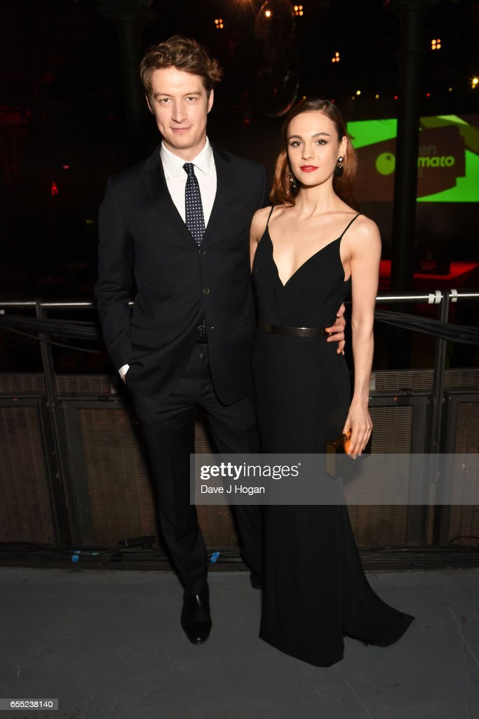Lorne MacFadyen and Sophie Skelton attend the THREE Empire awards at The Roundhouse on March 19, 2017 in London, England.