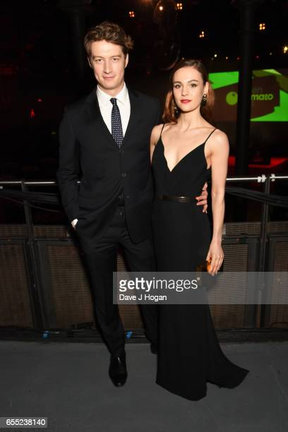 Lorne MacFadyen and Sophie Skelton attend the THREE Empire awards at The Roundhouse on March 19 2017 in London England