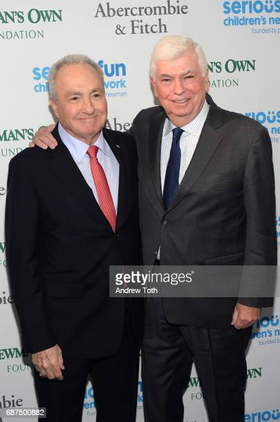 Lorne Michaels and Chris Dodd attend the 2017 SeriousFun Children's Network gala at Pier Sixty at Chelsea Piers on May 23 2017 in New York City