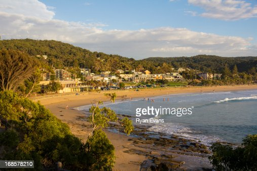 Lorne Surf Club and township at sunrise