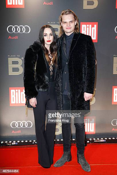 Lorraine and Wilson Gonzales Ochsenknecht attend the Bild 'Place to B' Party on February 07 2015 in Berlin Germany