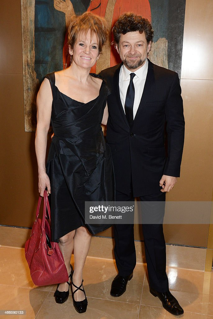 Lorraine Ashbourne (L) and Andy Serkis attend the London Critics' Circle Film Awards at The Mayfair Hotel on February 2, 2014 in London, England.