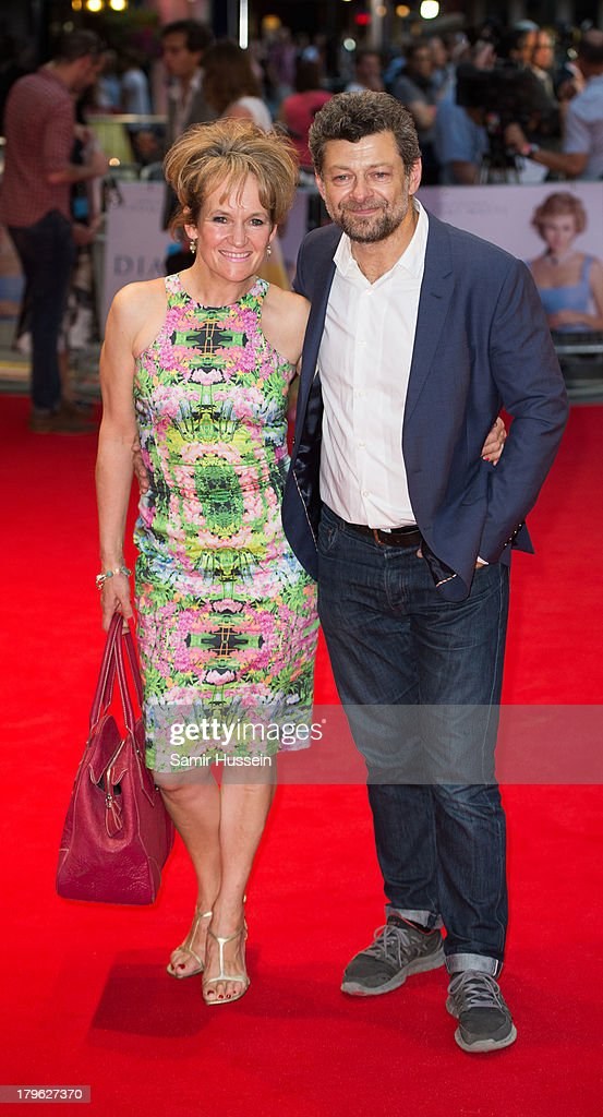 Lorraine Ashbourne and Andy Serkis attend the World Premiere of 'Diana' at Odeon Leicester Square on September 5, 2013 in London, England.