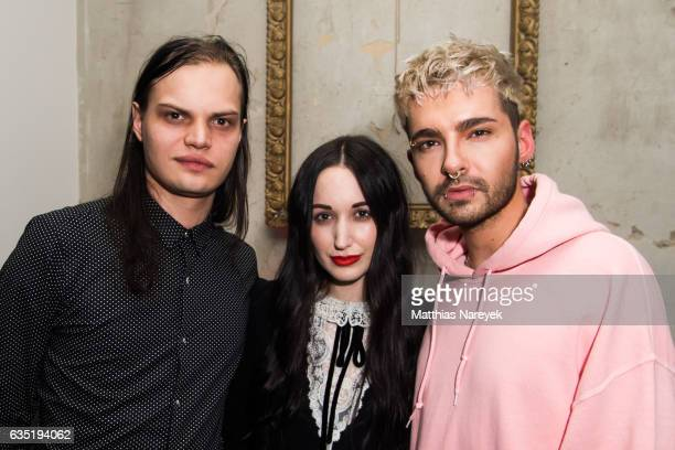 Lorraine Bedros Bill Kaulitz and Wilson Gonzalez Ochsenknecht attend the Pantaflix Party during the 67th Berlinale International Film Festival Berlin...