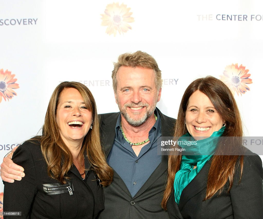 Lorraine Bracco, Aidan Quinn, and Elizabeth Bracco attend the 'Evening Of Discovery' Gala at Pier Sixty at Chelsea Piers on May 15, 2012 in New York City.