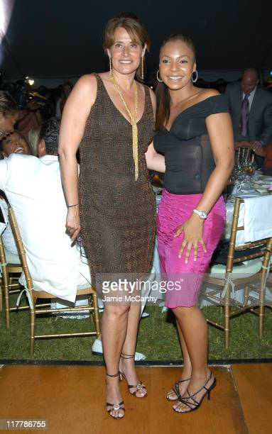 Lorraine Bracco and Ashanti during A Glittering Night Under the Stars to Benefit The G P Foundation for Cancer Research at The Home of Denise Rich in...
