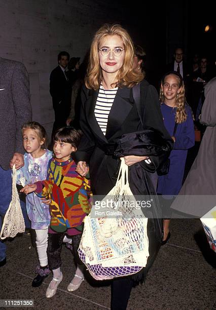 Lorraine Bracco and Daughter Stella Keitel during A Big Apple Circus Performance to Benefit the Scott Newman Drug Center at Lincoln Center in New...