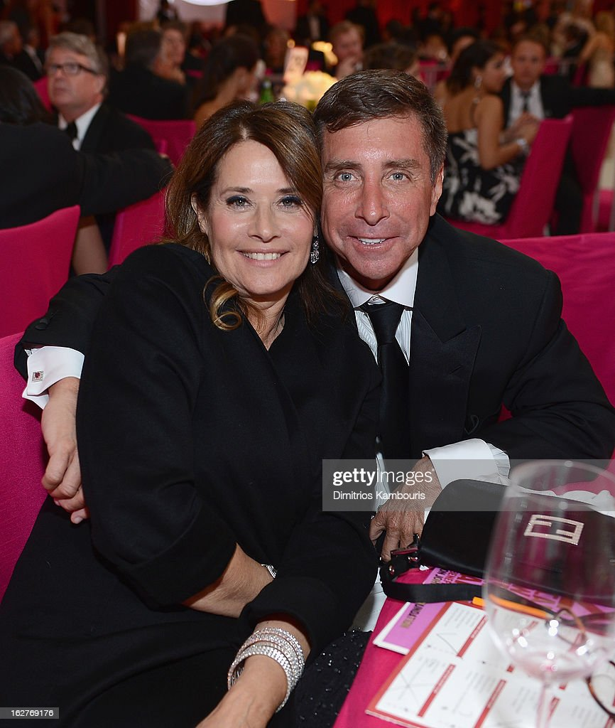 Lorraine Bracco and Rackover attend the 21st Annual Elton John AIDS Foundation Academy Awards Viewing Party at West Hollywood Park on February 24, 2013 in West Hollywood, California.