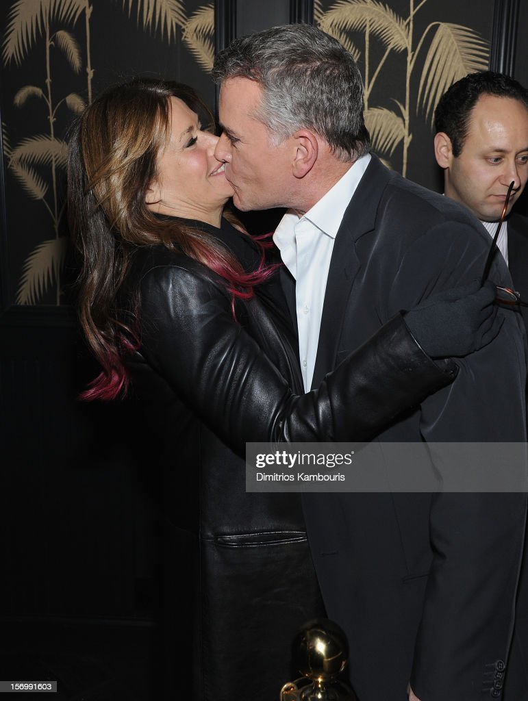 Lorraine Bracco and Ray Liotta attend The Cinema Society With Men's Health And DeLeon Tequila Host A Screening Of The Weinstein Company's 'Killing Them Softly' After Party on November 26, 2012 in New York City.