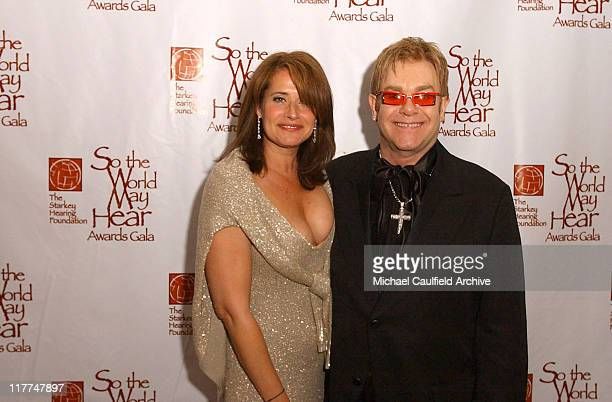 Lorraine Bracco and Sir Elton John during 'So The World May Hear' Awards Gala All Access at Rivercentre in St Paul Minnesota United States