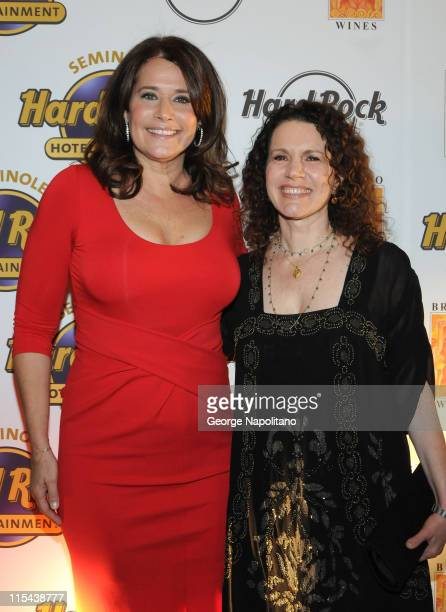 Lorraine Bracco and Susie Essman during the launch of Bracco Wines at the Hard Rock Cafe on February 25 2008 in New York City