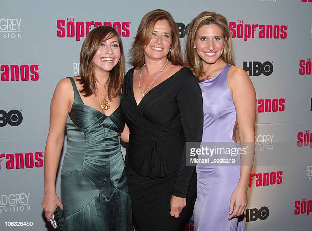Lorraine Bracco with Daughters Stella Keitel and Margaux Guerard