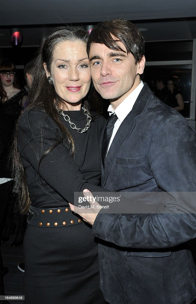 Lorraine Chase and Ryan Molloy attend the Jersey Boys 5th anniversary performance after party at the Paramount Club on March 26, 2013 in London, England.