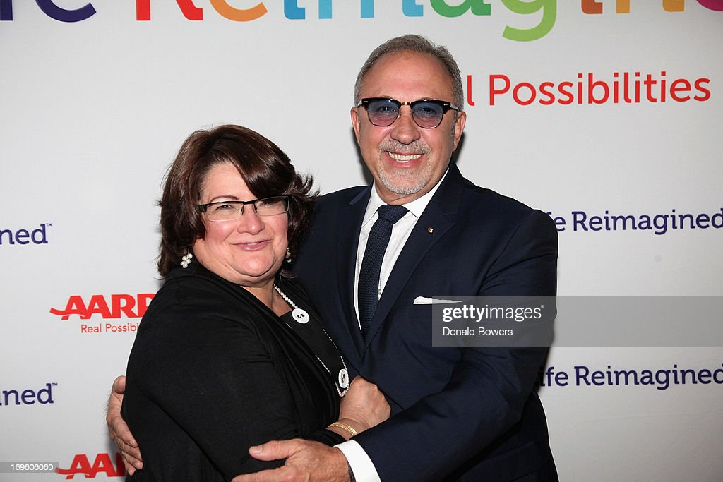 Lorraine Cortes and <a gi-track='captionPersonalityLinkClicked' href=/galleries/search?phrase=Emilio+Estefan&family=editorial&specificpeople=210517 ng-click='$event.stopPropagation()'>Emilio Estefan</a> attend The Launch of AARP's 'Life Reimagined' hosted by <a gi-track='captionPersonalityLinkClicked' href=/galleries/search?phrase=Emilio+Estefan&family=editorial&specificpeople=210517 ng-click='$event.stopPropagation()'>Emilio Estefan</a> and Dan Marino at La Bottega Trattoria at The Maritime Hotel on May 28, 2013 in New York City.