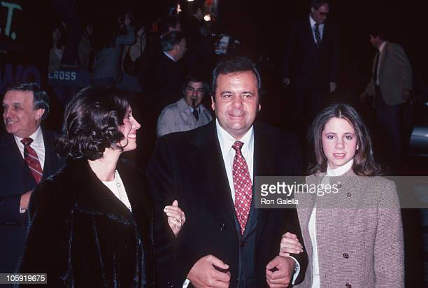 Lorraine Davis Paul Sorvino and Mira Sorvino during 'That Championship Season' New York Premiere December 8 1982 at Seventh Regiment Armory in New...