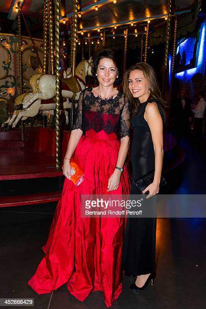 Lorraine de Boisanger and Elodie Monchicourt attend the Mimi Foundation gala dinner at Musee des Arts Forains on November 30 2013 in Paris France