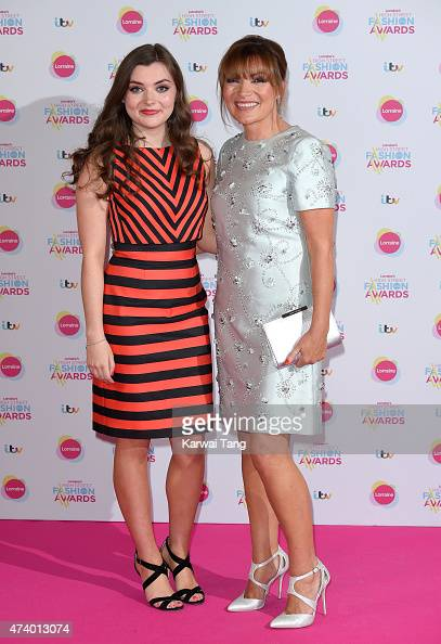 Lorraine Kelly and daughter Rosie Smith attend Lorraine's High Street Fashion Awards at Grand Connaught Rooms on May 19 2015 in London England