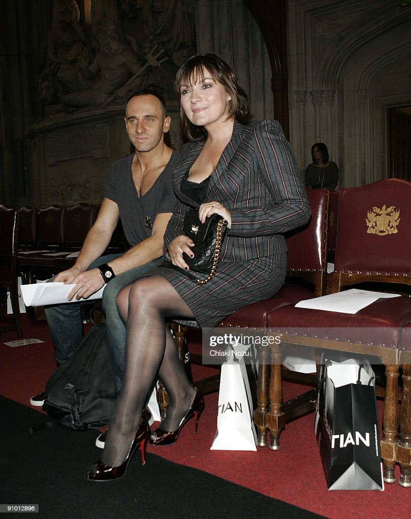 Lorraine Kelly attends the House of Holland show during the London Fashion Week Spring/Summer 2010 fashion show at the Freemason's Hall on September...