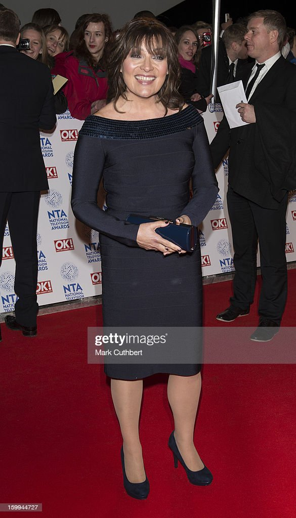 Lorraine Kelly attends the National Television Awards at 02 Arena on January 23, 2013 in London, England.
