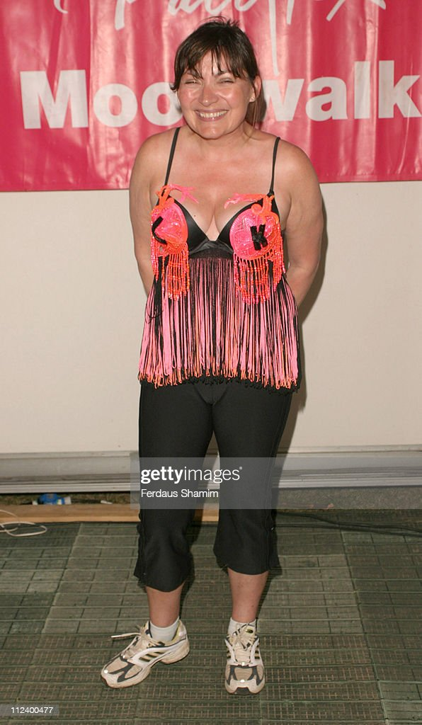 Lorraine Kelly during The Playtex Moonwalk 2005 at Hyde Park in London Great Britain