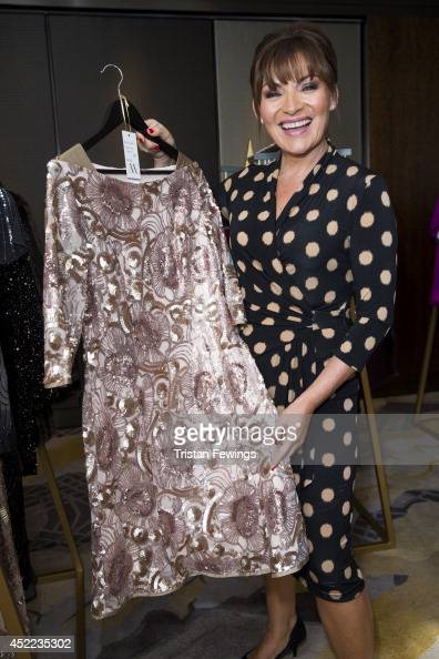 Lorraine Kelly launches her first fashion line for JD Williams introducing her AW14 edit at The Shard on July 16 2014 in London United Kingdom