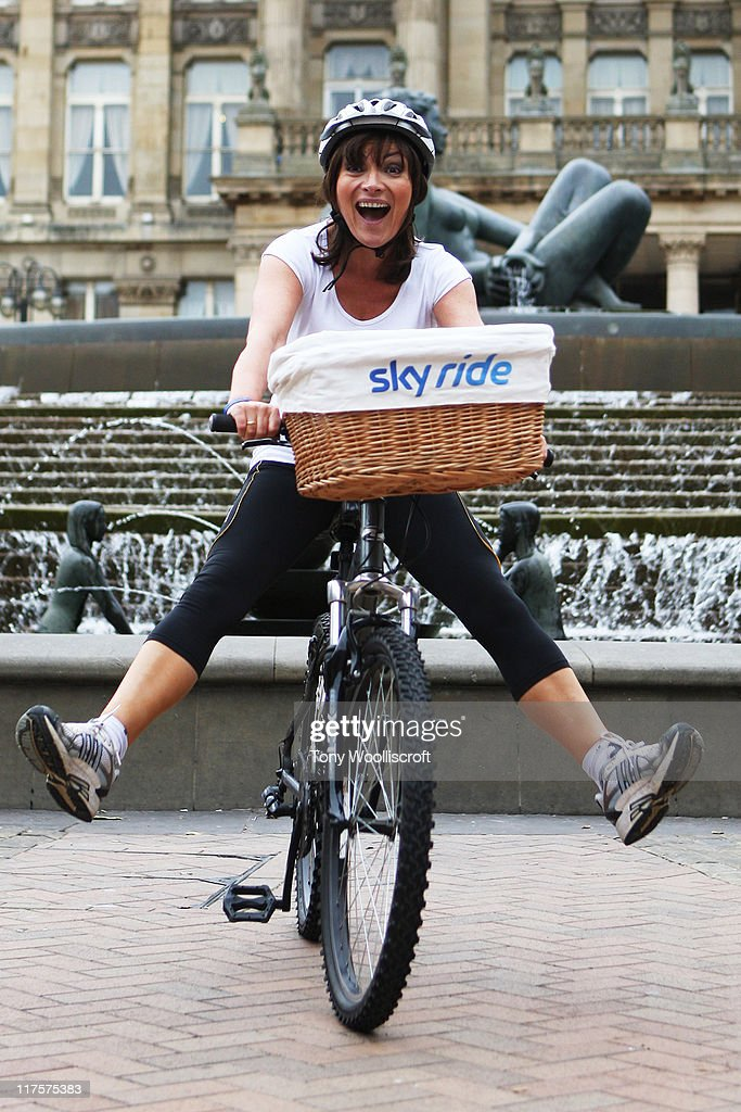 Lorraine Kelly launches Sky Ride Birmingham 2011 at Victoria Square on June 28 2011 in Birmingham England