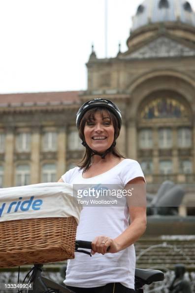 Lorraine Kelly launches Sky Ride Birmingham 2011 at Victoria Square on June 28 2011 in Birmingham England