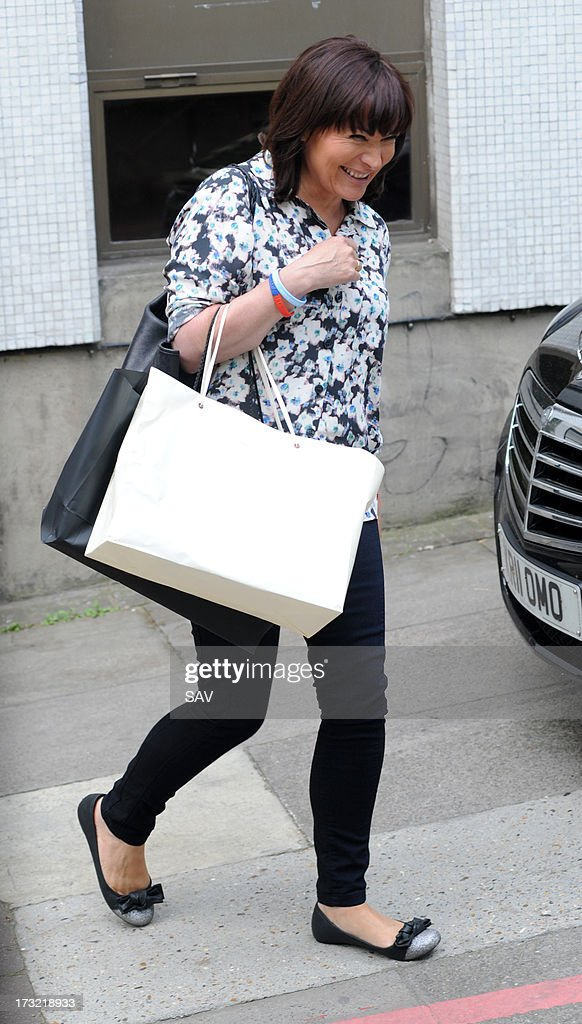 Lorraine Kelly pictured at the ITV studios on July 10, 2013 in London, England.