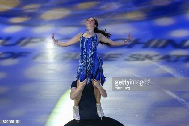 Lorraine Mcnamara and Quinn Carpenter of the United States performs during exhibition program of Audi Cup of China ISU Grand Prix of Figure Skating...