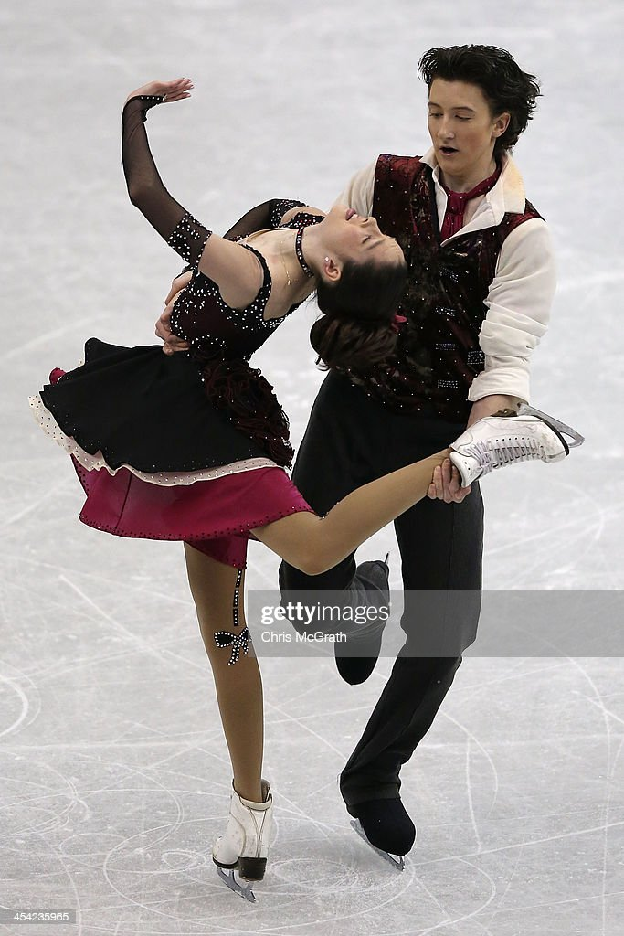 Lorraine McNamara and Quinn Carpenter of the USA compete in the Junior Ice Dance Free Dance Final during day four of the ISU Grand Prix of Figure Skating Final 2013/2014 at Marine Messe Fukuoka on December 8, 2013 in Fukuoka, Japan.