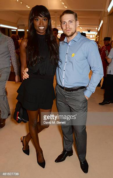 Lorraine Pascale and guest arrive at The Masterpiece Marie Curie Party supported by JaegerLeCoultre and hosted by Heather Kerzner at The Royal...