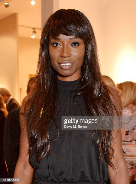Lorraine Pascale arrives at The Masterpiece Marie Curie Party supported by JaegerLeCoultre and hosted by Heather Kerzner at The Royal Hospital...